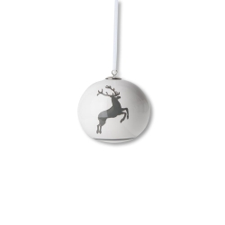Grey Deer Christmas Ball Ornament