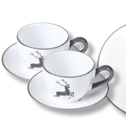 Grey Deer (Stag) Coffee Cup and Saucer