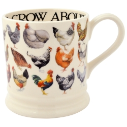 Hen and Toast Row 1/2 Pint Mug