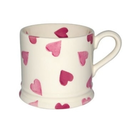 Pink Hearts Small Mug-back order until Late February