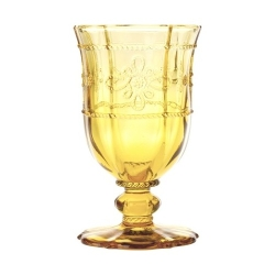 Colette Footed Goblet Amber Retired