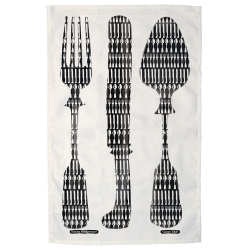 Giant Knives & Forks Tea Towel