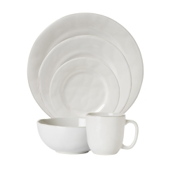 Puro Whitewash 5pc Place Setting (Dinner, Dessert, Side, Cereal, Coff/tea )