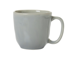 Puro Mist Grey Crackle Coffee or Tea Cup