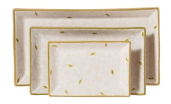 White Lawn Rectangular Dish Set/3