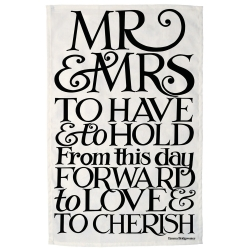 Black Toast and Marmalade Mr and Mrs Tea Towel