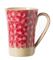 Lawn Pattern Red Tall Mug