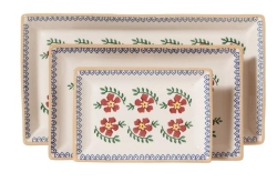 Old Rose Rectangular Dish Set/3
