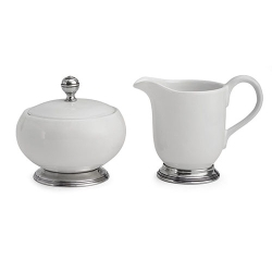 rte Italica Tuscan Cream  and  Sugar Set (tray not included)