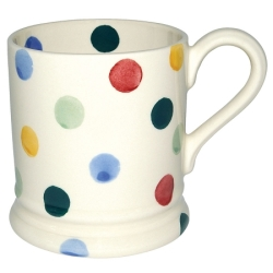 Polka Dot 1/2 Pint Mug Filled Candle Mug
