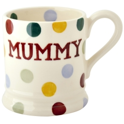 Polka Dot  Mummy 1/2 Pint Mug
