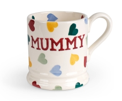 Polka Heart  Mummy 1/2 Pint Mug
