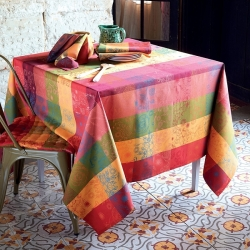 Mille Alcees Litchi Tablecloth , 100% Cotton