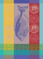 Plancha Turquoise Kitchen Towel-1 available