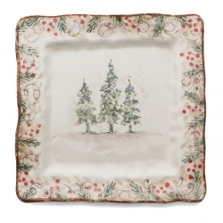 Natale Square Plate