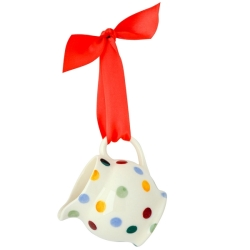 Polka Dot Tiny Jug Tree Decoration Boxed