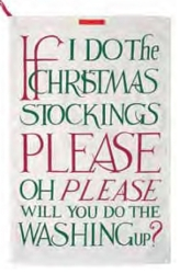 Christmas Toast Tea Towel Retired Style