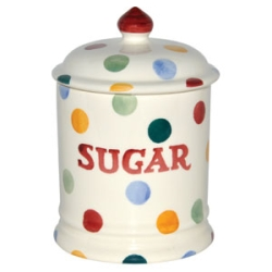 Polka Dot Sugar Storage Jar Retired