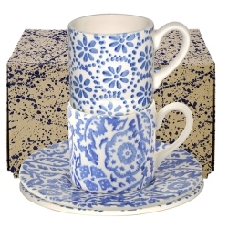 Blue Skies Espresso Cup  and  Saucer Boxed Set