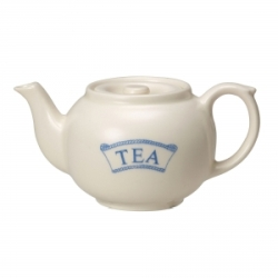 Pantry Pale Blue Badged Tea Teapot for One