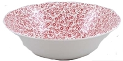 Red Felicity Cereal Bowl Retired