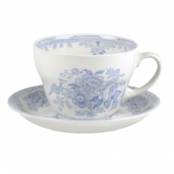 Blue Asiatic Pheasant Breakfast Cup and Saucer