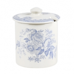 Blue Asiatic Pheasant Covered Jam/Sugar Pot