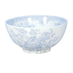 Blue Asiatic Pheasant Footed Bowl - Med