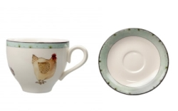 Highgrove Hens Teacup/Sauc