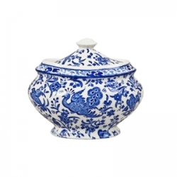 Blue Regal Peacock Covered Sugar Bowl