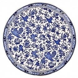 Blue Regal Peacock Cake Plate