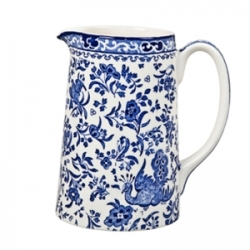 Blue Regal Peacock Medium Tankard Jug 1 Pt