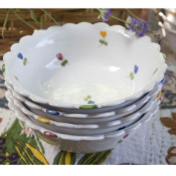 Faienceries d'Art de Malicorne Mille Fleurs Cereal Bowl, France