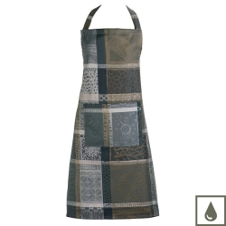Mille Wax Cendre Coated Apron
