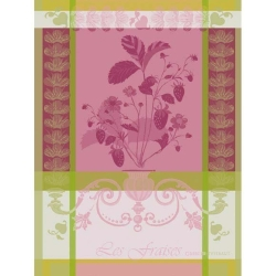 Fraisier Rose Kitchen Towel - 100% Cotton
