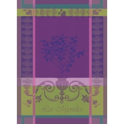 Myrtilles Violet Kitchen Towel - 100% Cotton