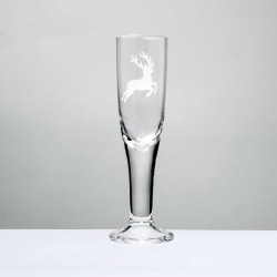 Eisch Glass, Champagne Glass Deer