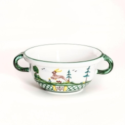 Hunter's Delight Bowl with Handle 6.7