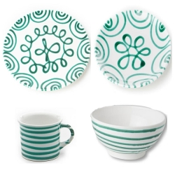 Dizzy Green Coupe Place Setting
