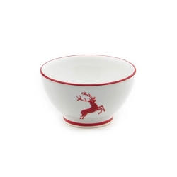 Ruby Red Deer French Style Cereal Bowl-5.5