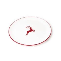 Ruby Red Deer Coupe Dinner Plate 11