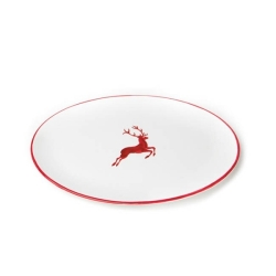 Ruby Red Deer (Stag) Oval Platter 15