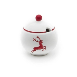 Ruby Red Deer Sugar Bowl