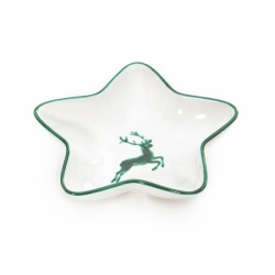 Green Deer (Stag) Classic Star Shaped Dish 12.2