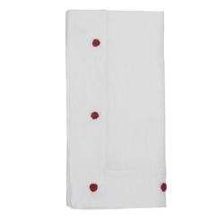 Berry & Thread Embroidered Napkin Ruby