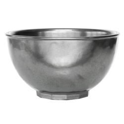 Pewter Stoneware Cereal / Ice Cream Bowl