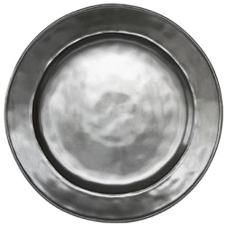 Pewter Stoneware Dinner Plate
