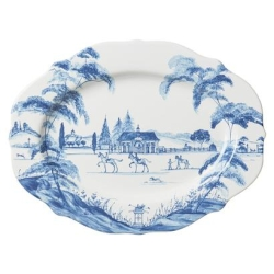 Country Estate Delft Medium Serving Platter