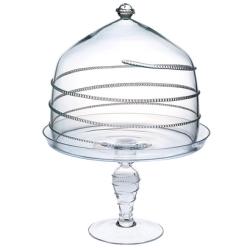 Amalia Lg Cake Dome and Pedestal Clear