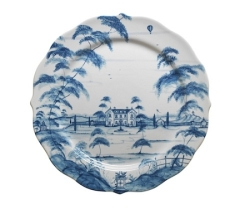 Country Estate Delft Blue Charger/Server Plate Main House